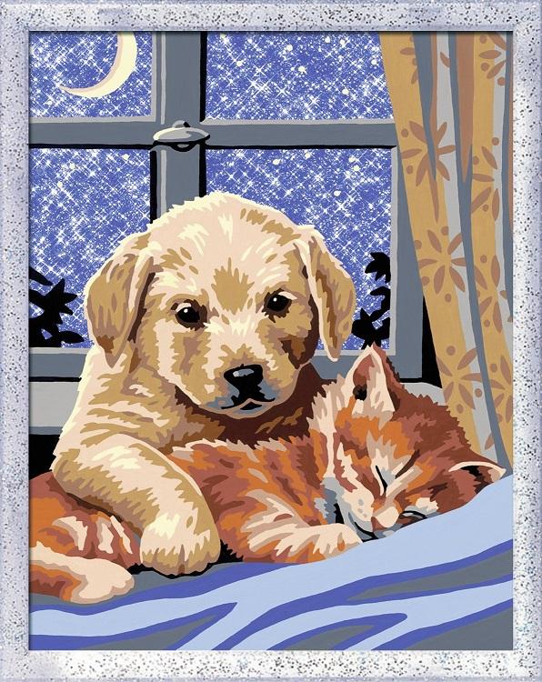Num ro d art scintillant animaux bonne nuit jeu cr atif - Peinture bonne qualite ...