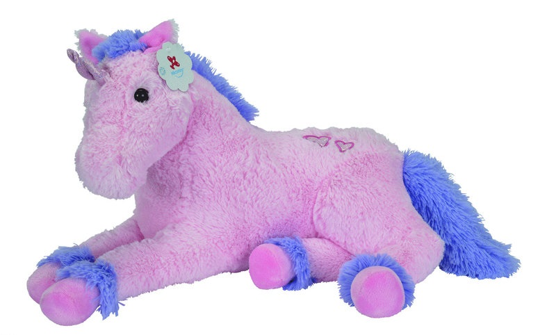 peluche nicotoy 5830023 licorne rose et violet 125 cm couch. Black Bedroom Furniture Sets. Home Design Ideas