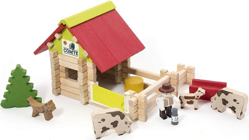 La ferme en bois jeujura for Jeu construction bois