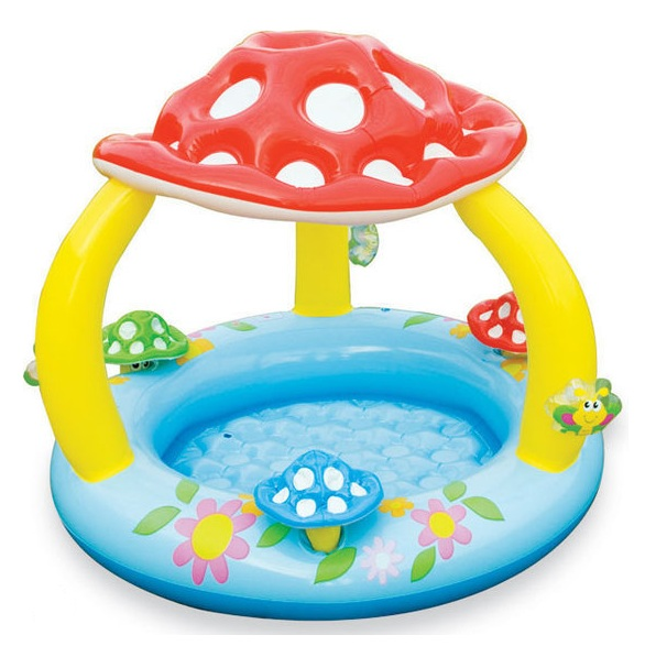 piscine champignon avec toit parasol b b intex au meilleur prix. Black Bedroom Furniture Sets. Home Design Ideas
