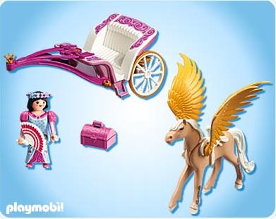 Playmobil princesse 5143 carrosse avec cheval ail pegasus nouveaut 2012 - Carrosse de princesse ...