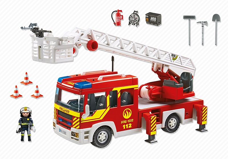 Playmobil 5362 camion de pompier grande chelle son et lumi re - Camion de pompier a dessiner ...