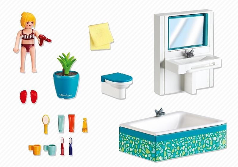 Acheter playmobil maison 5577 salle de bain avec baignoire for Salle de bain moderne avec baignoire
