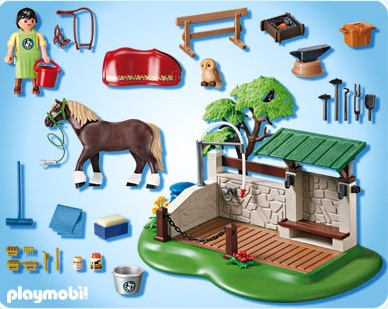 Playmobil country playmobil 5225 box de lavage pour chevaux - Douche pour chevaux playmobil ...