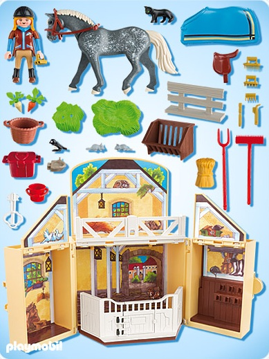 playmobil country playmobil 5418 ecurie transportable. Black Bedroom Furniture Sets. Home Design Ideas