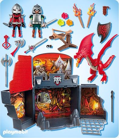 Playmobil dragons playmobil 5420 coffret chevaliers - Chateau chevalier playmobil ...