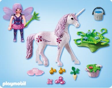 playmobil 5440 figurine fe cuisinire avec licorne violette veules