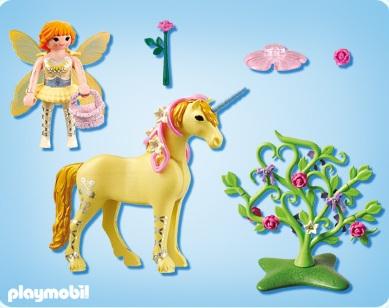 playmobil 5442 fairies fe jardinire avec licorne fleur lestendances
