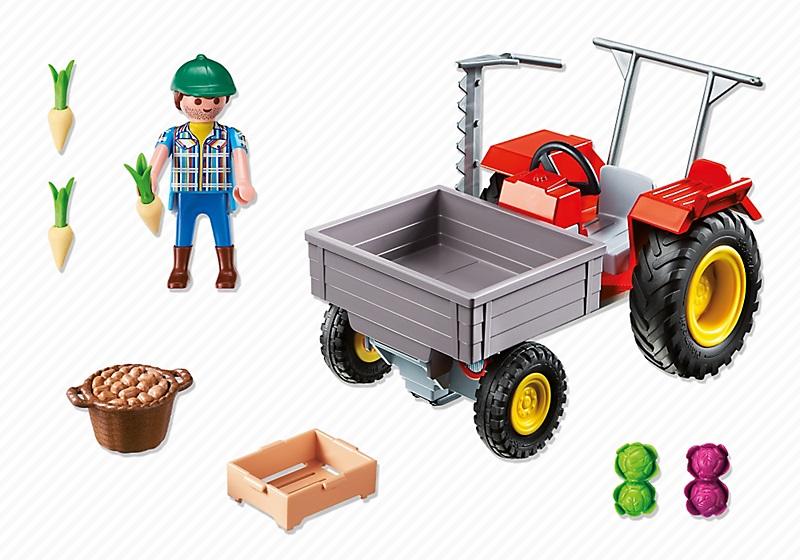 playmobil country 6131 fermier avec tracteur faucheuse. Black Bedroom Furniture Sets. Home Design Ideas