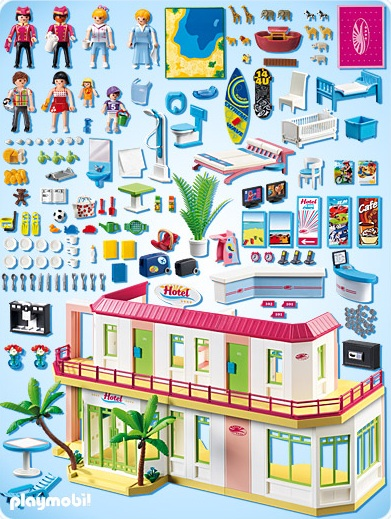playmobil vacances playmobil 5265 achat grand h tel am nag playmobil. Black Bedroom Furniture Sets. Home Design Ideas