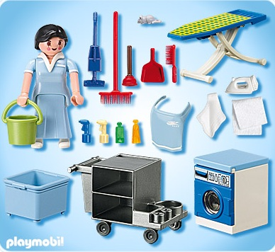 Playmobil vacances playmobil 5271 femme de service h tel for Playmobil buanderie