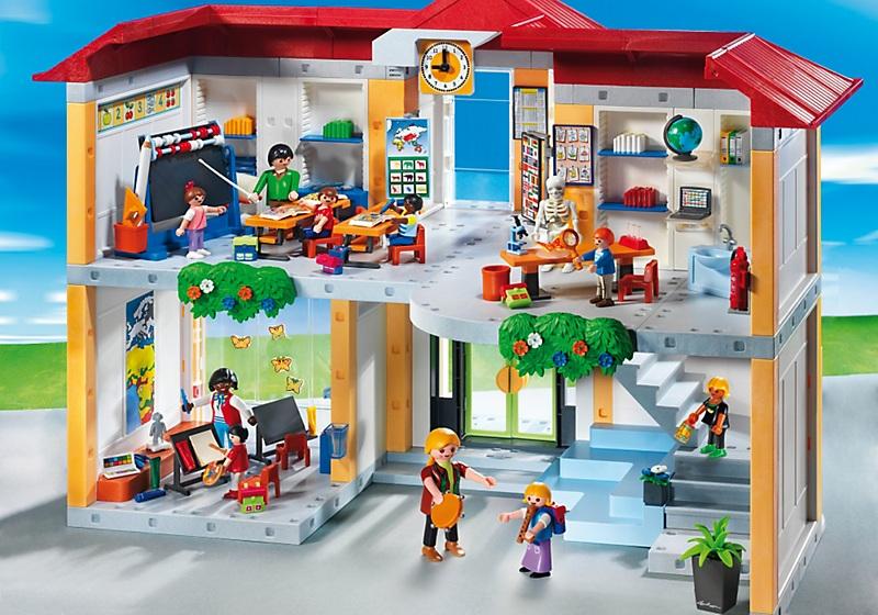 Playmobil city life 5923 ecole avec 3 salles de classe for Salle a manger playmobil city life