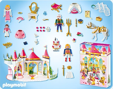 playmobil princesse calendrier de l avent 4165 jeu de construction fille. Black Bedroom Furniture Sets. Home Design Ideas