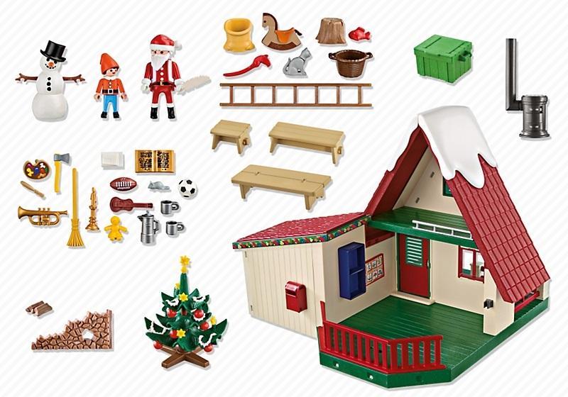 playmobil 5976 la maison du p re no l au meilleur prix. Black Bedroom Furniture Sets. Home Design Ideas
