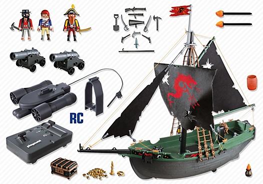 jouet playmobil 5238 bateau des corsaires avec moteur rc pirates. Black Bedroom Furniture Sets. Home Design Ideas