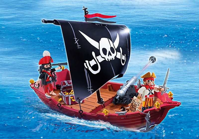 chaloupe des corsaires bateau pirates playmobil pas cher. Black Bedroom Furniture Sets. Home Design Ideas