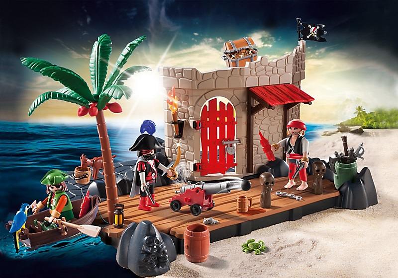 playmobil superset 6146 ilot des pirates moins cher. Black Bedroom Furniture Sets. Home Design Ideas