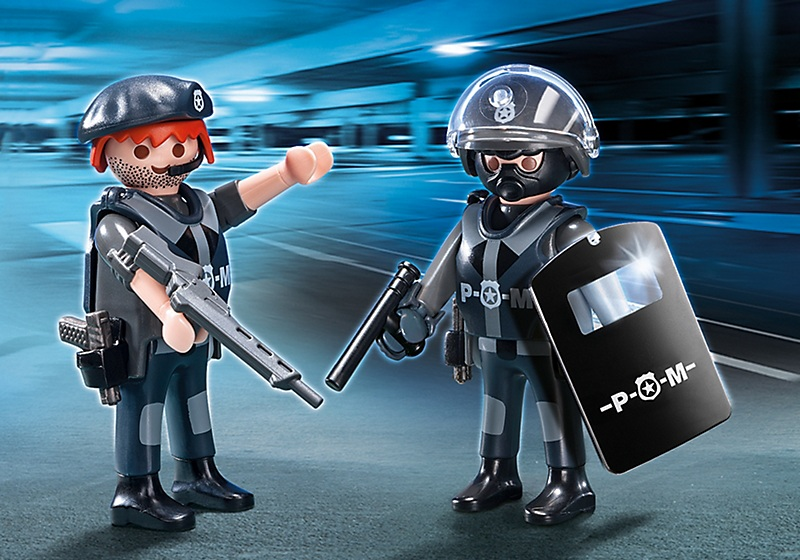 Playmobil city action 5515 duo policiers des forces sp ciales - Playmobile policier ...