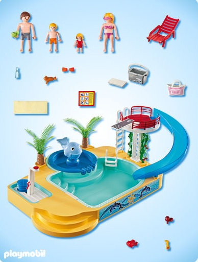 Playmobil summer fun playmobil 5433 piscine avec for Playmobil piscine avec terrasse