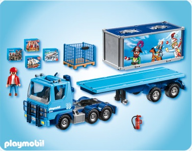 Camion porte container routier playmobil city transport 4447 - Playmobil camion ...