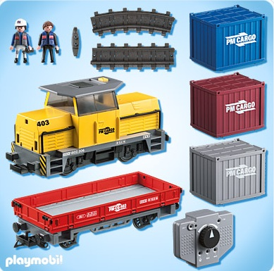 Playmobil transport playmobil 5258 train porte - Train playmobil ...