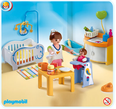 Playmobil r f rence 4286 vie en ville for Playmobil chambre bebe