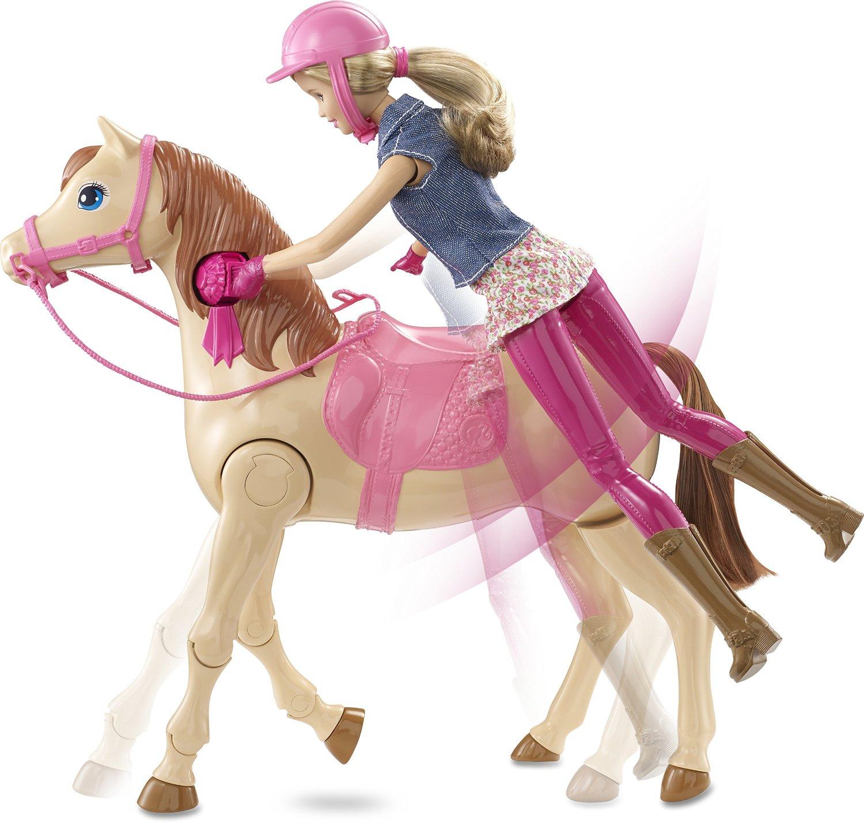 Mattel cmp27 poup e barbie hop cheval cavali re mannequin - Barbie au cheval ...