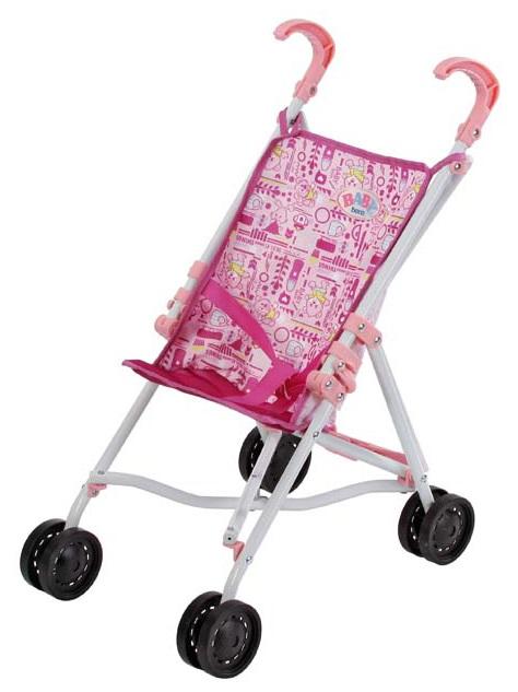 poussette canne rose pour poupon 32 43 cm jouet baby. Black Bedroom Furniture Sets. Home Design Ideas