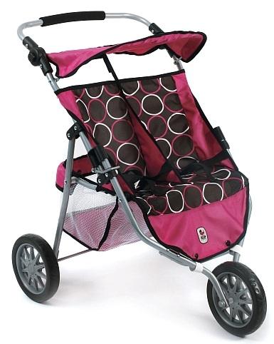 poussette jumelle sportive 3 roues jouet poup es bayer. Black Bedroom Furniture Sets. Home Design Ideas