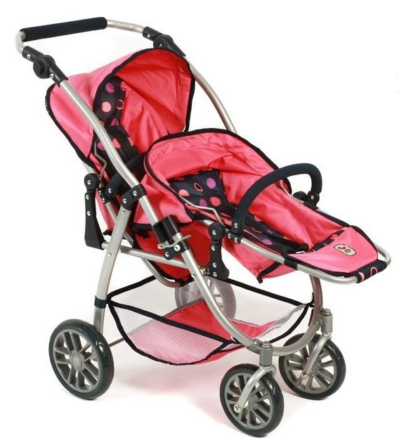 poussette double buggy vario rose poup es jouet bayer. Black Bedroom Furniture Sets. Home Design Ideas