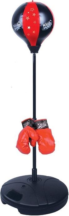 jouet punching ball sur pied pour enfant base lest e gants. Black Bedroom Furniture Sets. Home Design Ideas