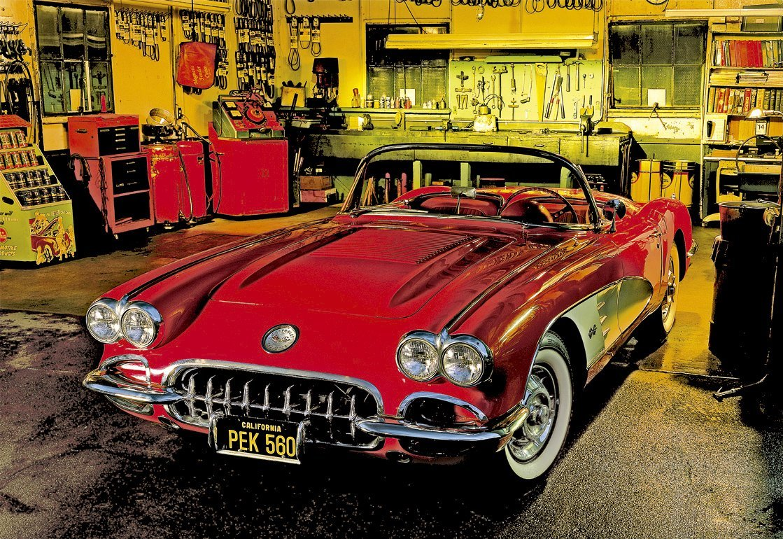 Educa 16004 puzzle 1500 pi ces garage vintage voiture rouge for Garage credit voiture