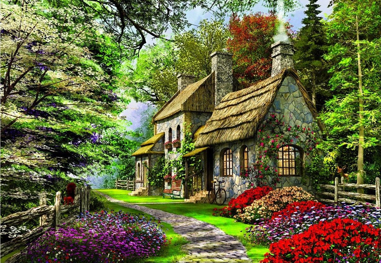 Educa 15536 Puzzle Famille Cottage Aux Illets 2000 Pi 232 Ces