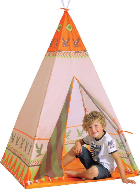 jouet tente d indien tipi pour enfant cabane tente d indien. Black Bedroom Furniture Sets. Home Design Ideas