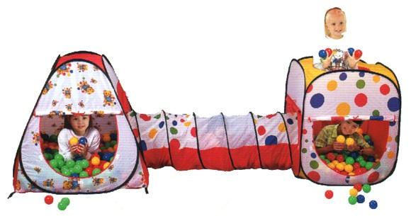 set 2 tentes balles tunnel pop up 200 balles pour enfants. Black Bedroom Furniture Sets. Home Design Ideas
