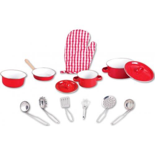 jouet casseroles enfant batterie de cuisine en m tal set de cuisine pour enfant. Black Bedroom Furniture Sets. Home Design Ideas