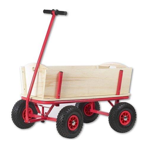 chariot remorque en bois grand chariot de plage enfant chariot bras en bois. Black Bedroom Furniture Sets. Home Design Ideas