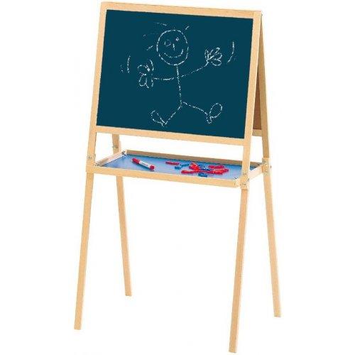 Tableau cr atif en bois tableau double face jeujura - Tableau enfant bois ...