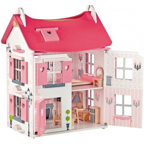 maison de poup en bois. Black Bedroom Furniture Sets. Home Design Ideas