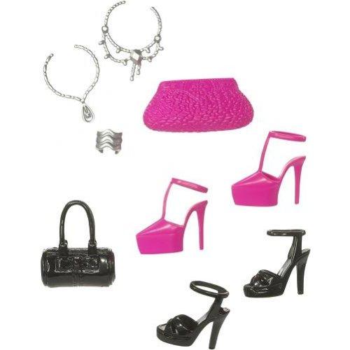 set accessoires barbie barbie chaussures et accessoires jouet univers barbie. Black Bedroom Furniture Sets. Home Design Ideas