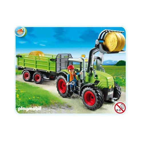 Playmobil ferme 5121 grand tracteur avec remorque