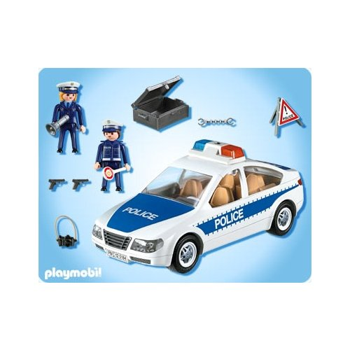 pho playmobil police 5184 voiture de police avec lumieres clignotantes. Black Bedroom Furniture Sets. Home Design Ideas