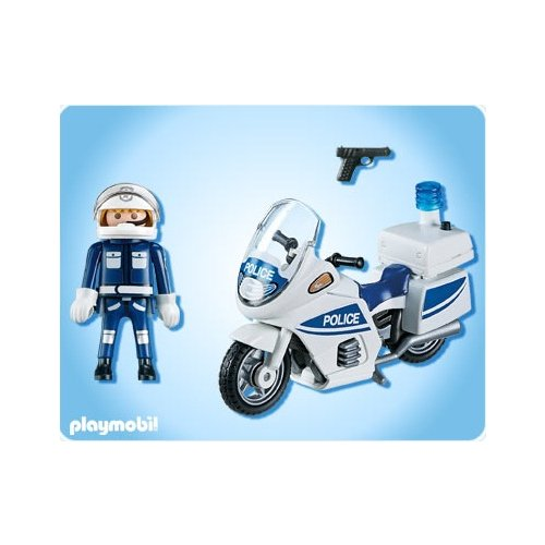 playmobil police playmobil 5185 achat motard de police playmobil. Black Bedroom Furniture Sets. Home Design Ideas