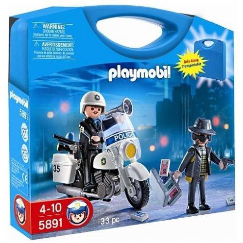 Playmobil police playmobil 5891 valisette policier et voleur - Playmobile policier ...
