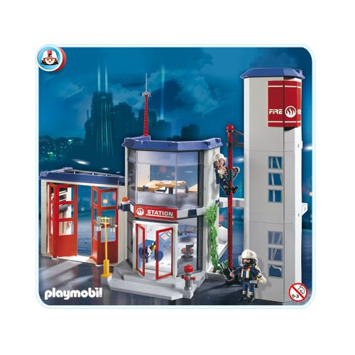 caserne des pompiers playmobil. Black Bedroom Furniture Sets. Home Design Ideas