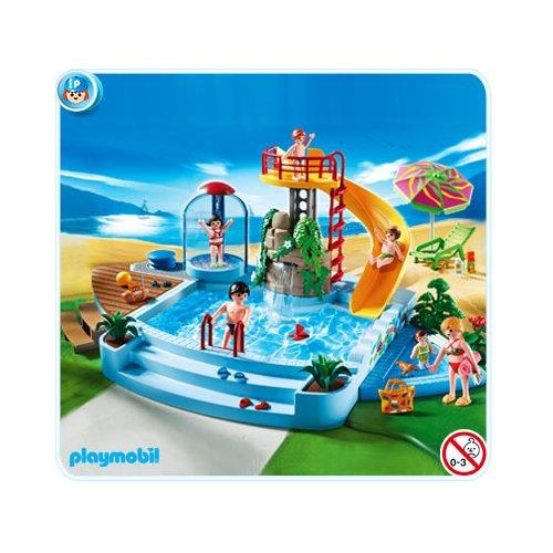 Playmobil r f rence 4858 piscine for Piscine avec terrasse playmobil