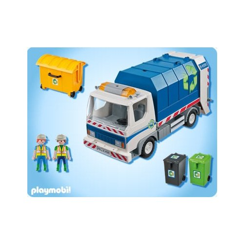 playmobil city playmobil 4129 camion poubelle playmobil. Black Bedroom Furniture Sets. Home Design Ideas