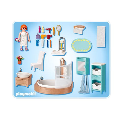 Playmobil r f rence 5330 playmobil vie en ville for Salle de bain avec baignoire playmobil