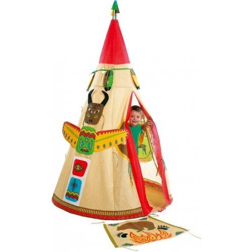 Tente iroquois tipi indien tente de jeu enfant for Tente enfant exterieur