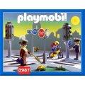 PLAYMOBIL VIE EN VILLE 3987 PIETONS / SIGNALISATIONS / CARREFOUR